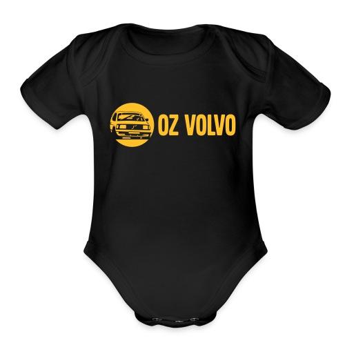 OzVolvo Logo - Organic Short Sleeve Baby Bodysuit