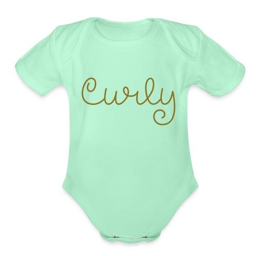 curly - Organic Short Sleeve Baby Bodysuit