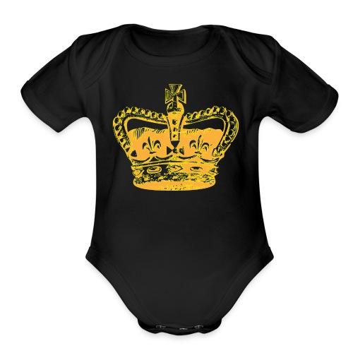 SR CROWN LOGO - Organic Short Sleeve Baby Bodysuit