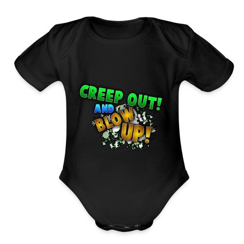 RealCreepman's Merchandise - Organic Short Sleeve Baby Bodysuit