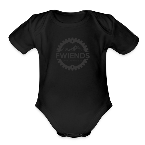 Fwiends Logo - Organic Short Sleeve Baby Bodysuit