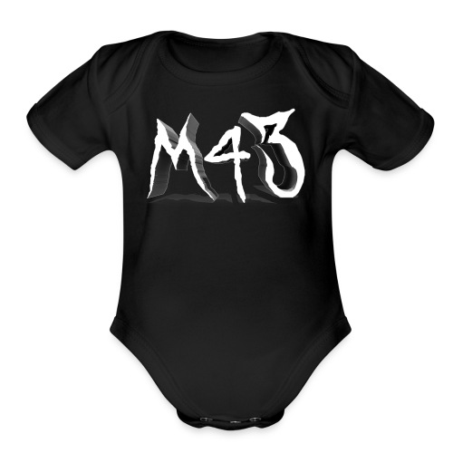 M43 Logo 2018 - Organic Short Sleeve Baby Bodysuit