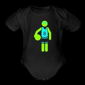 my amazing blab clothing logo - Short Sleeve Baby Bodysuit