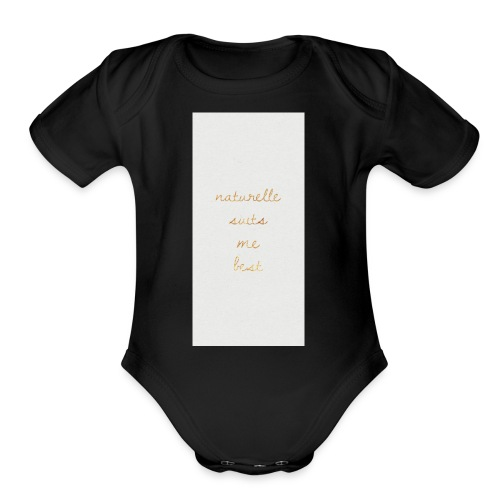 Naturelle Suits Me iPhone Case - Organic Short Sleeve Baby Bodysuit
