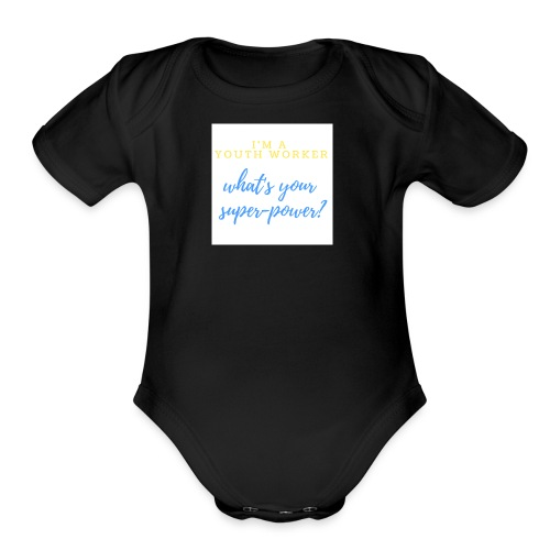 Super Hero - Organic Short Sleeve Baby Bodysuit
