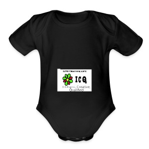 bunk new ICQ edited 33 - Short Sleeve Baby Bodysuit