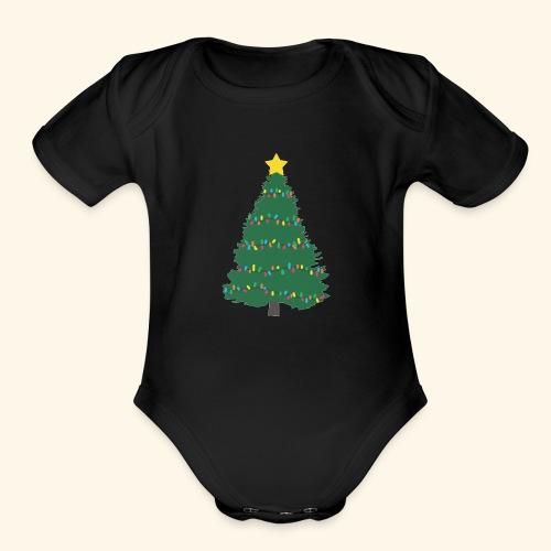 Christmas Tree - Organic Short Sleeve Baby Bodysuit