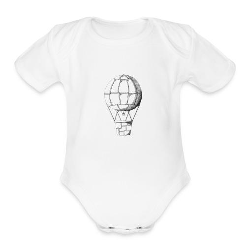 lead balloon - Organic Short Sleeve Baby Bodysuit