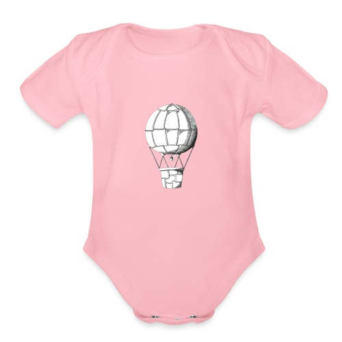 lead balloon - Organic Short Sleeve Baby Bodysuit
