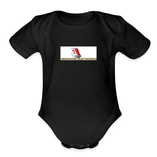 REAL YOUTUBE INNOVTED LOGO for shits - Organic Short Sleeve Baby Bodysuit