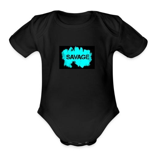 Babies SAVAGE T-Shirt - Organic Short Sleeve Baby Bodysuit