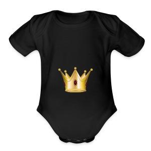 Crown - Short Sleeve Baby Bodysuit