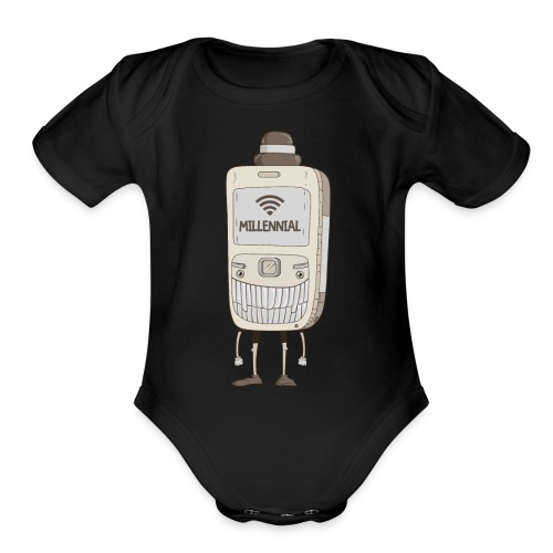MILLENNIAL - Organic Short Sleeve Baby Bodysuit