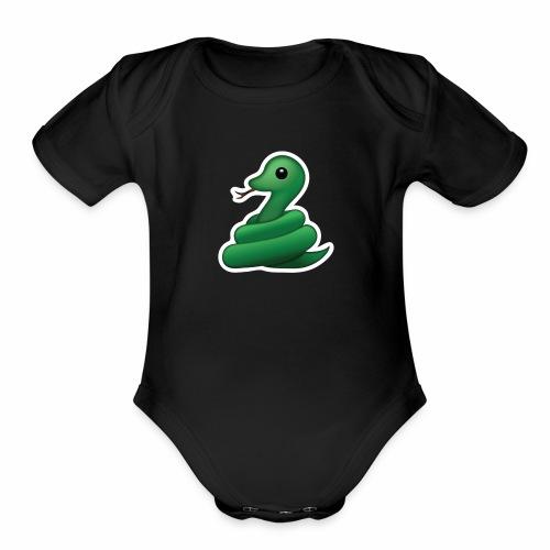 True Snake - Organic Short Sleeve Baby Bodysuit