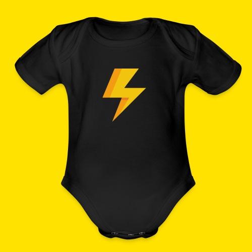 lightning icon - Organic Short Sleeve Baby Bodysuit