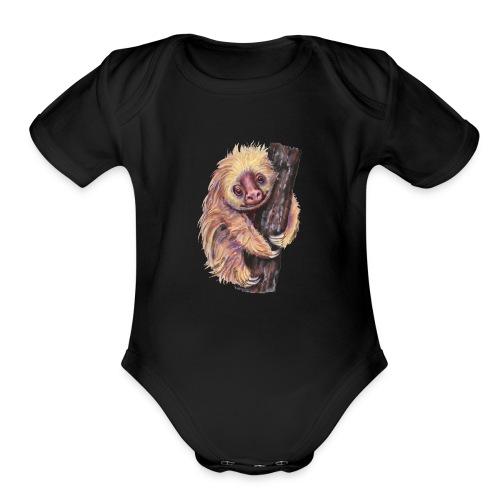 Sloth - Organic Short Sleeve Baby Bodysuit