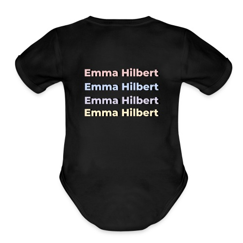 Emma Hilbert All over - Organic Short Sleeve Baby Bodysuit