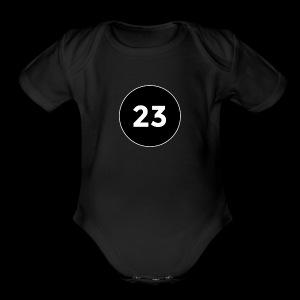 23 2014 logo - Short Sleeve Baby Bodysuit