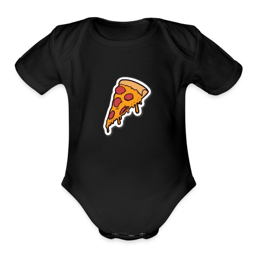 pizza - Organic Short Sleeve Baby Bodysuit