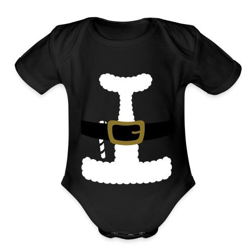 SANTA CLAUS SUIT - Men's Polo Shirt - Organic Short Sleeve Baby Bodysuit