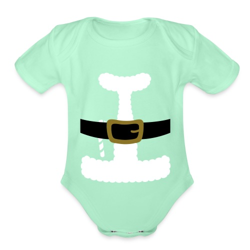 SANTA CLAUS SUIT - Men's Polo Shirt - Organic Short Sleeve Baby Bodysuit