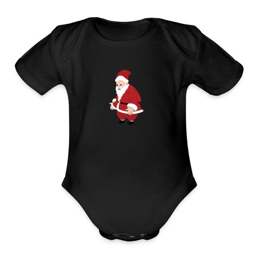 santa Claus - Organic Short Sleeve Baby Bodysuit