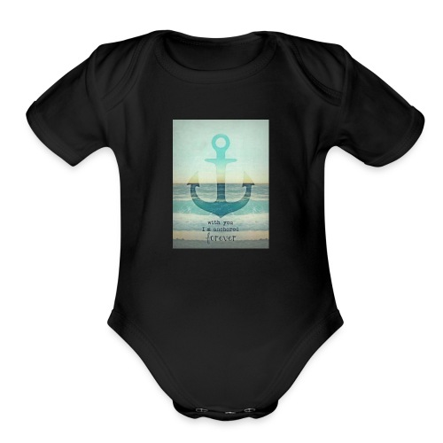 God is my anchor - Organic Short Sleeve Baby Bodysuit