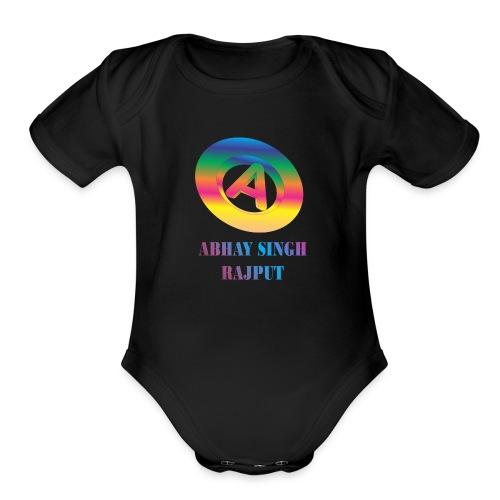 abhay - Organic Short Sleeve Baby Bodysuit