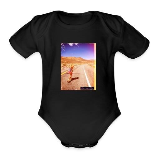 Hot Longboarder - Organic Short Sleeve Baby Bodysuit