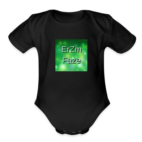 ErZm Faze Logo (MEMBER) - Organic Short Sleeve Baby Bodysuit