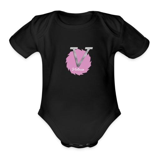V LOGO NEW - Organic Short Sleeve Baby Bodysuit