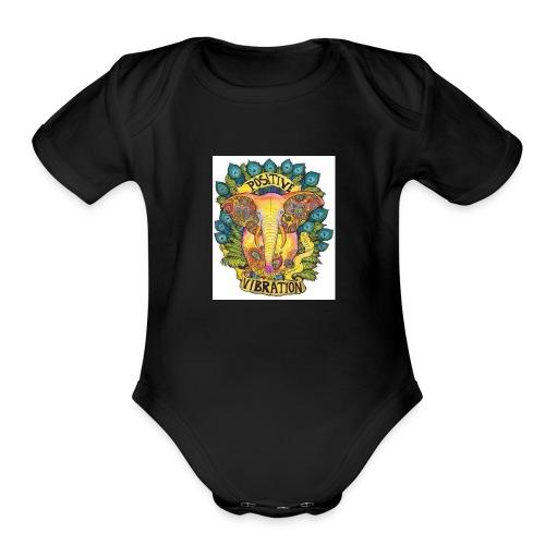 Positivity Elephant - Organic Short Sleeve Baby Bodysuit