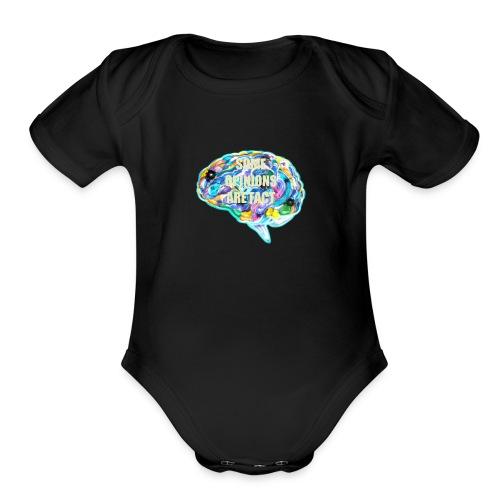 brain fact - Organic Short Sleeve Baby Bodysuit