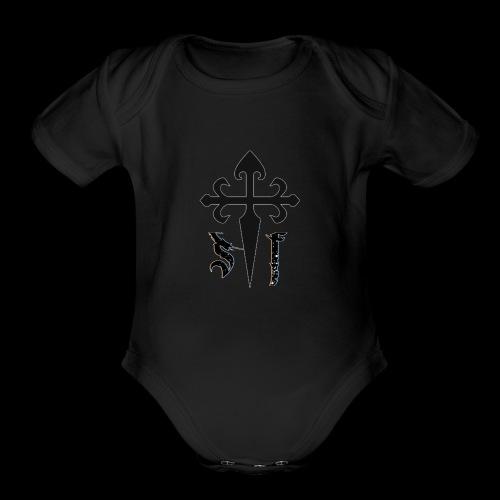 Simply Faith Logo - Organic Short Sleeve Baby Bodysuit