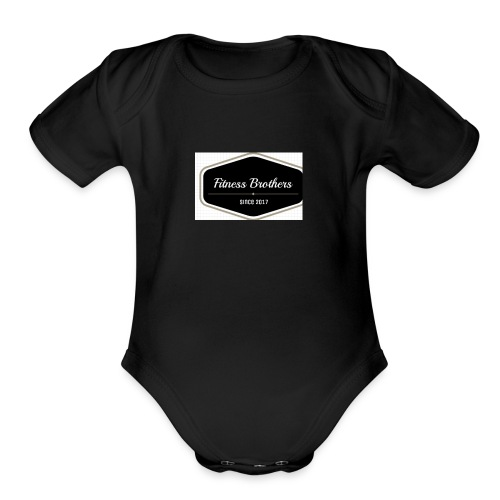 Fitness Brothers - Organic Short Sleeve Baby Bodysuit