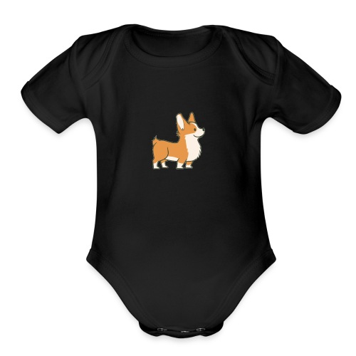 A Corgi - Organic Short Sleeve Baby Bodysuit