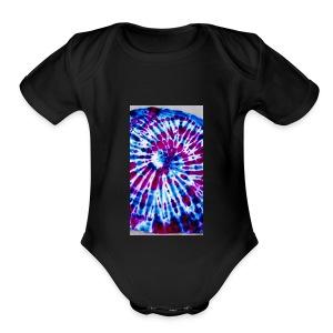 Tye dye hoodie - Short Sleeve Baby Bodysuit
