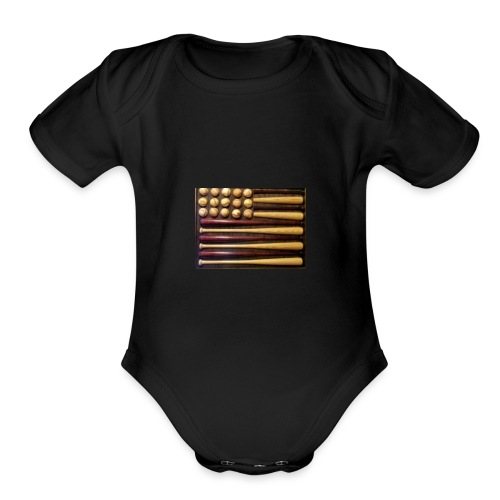 Baby baseball shirt - Organic Short Sleeve Baby Bodysuit