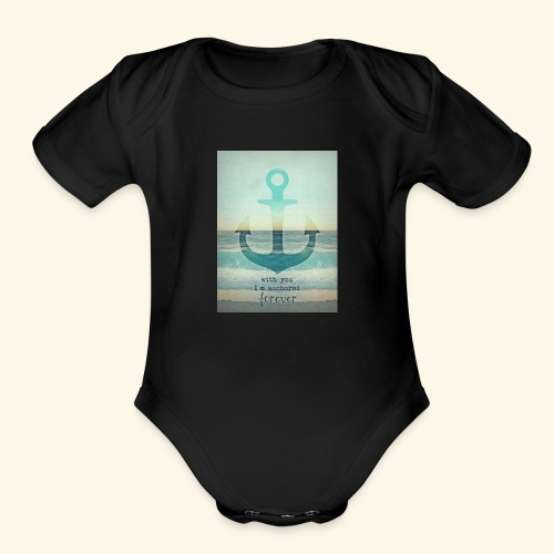 God is my anchor - Organic Short Sleeve Baby Bodysuit
