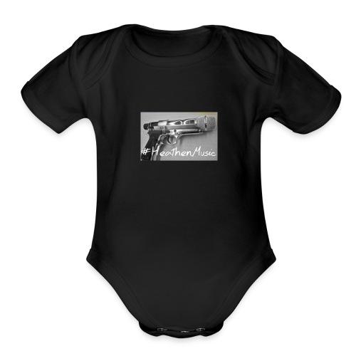 heathen music - Organic Short Sleeve Baby Bodysuit