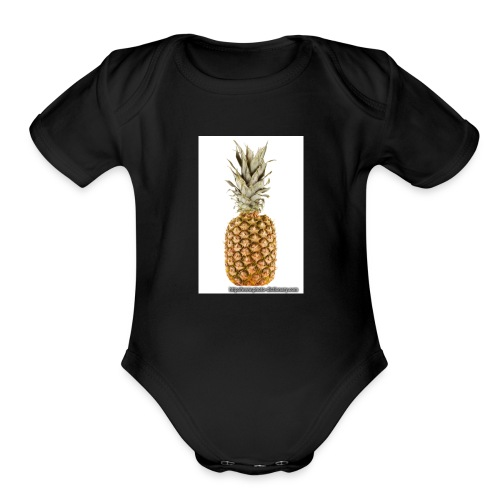 1567pineapple 1 - Organic Short Sleeve Baby Bodysuit