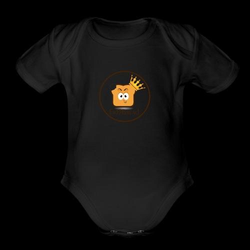 Fr33Bread Logo - Organic Short Sleeve Baby Bodysuit