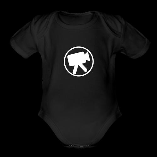 logo_wit_videotijd - Organic Short Sleeve Baby Bodysuit