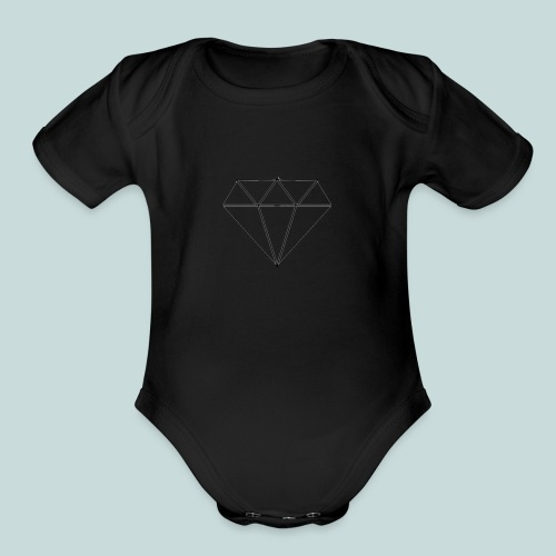 Diamond - Organic Short Sleeve Baby Bodysuit