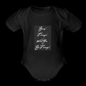 Grow - Short Sleeve Baby Bodysuit