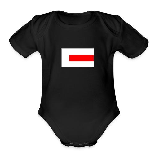 Flag Industrys flag Logo - Organic Short Sleeve Baby Bodysuit
