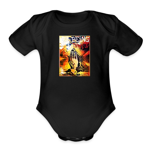 Being Thankful - Organic Short Sleeve Baby Bodysuit