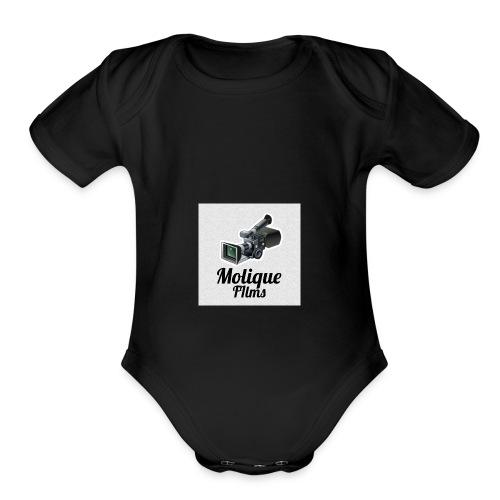 Molique Films Logo - Organic Short Sleeve Baby Bodysuit
