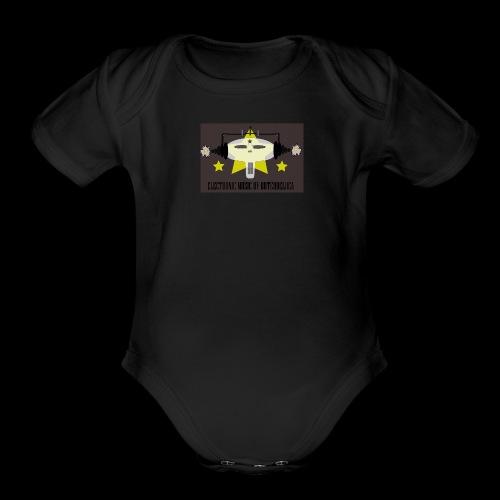 Butch DeLuca Music Skull w/ Headphones - Organic Short Sleeve Baby Bodysuit