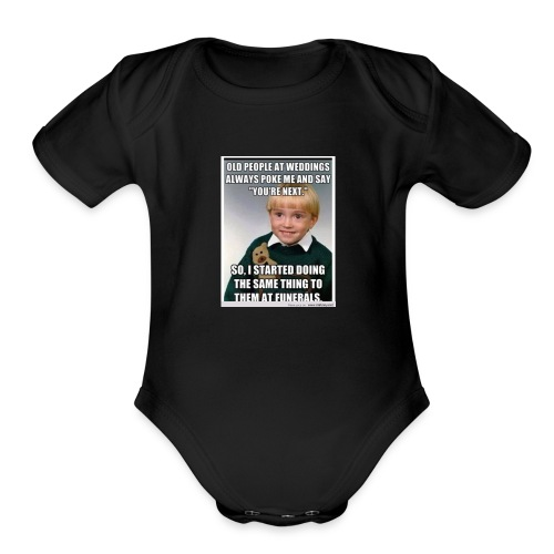 Funny means - Organic Short Sleeve Baby Bodysuit